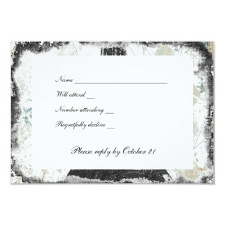Black Chic Paris Eiffel Tower rsvp with envelopes Personalized Invitation