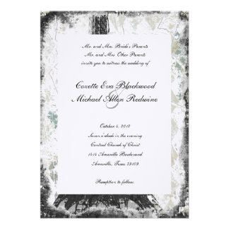Black Chic Paris Eiffel Tower Wedding Invitation