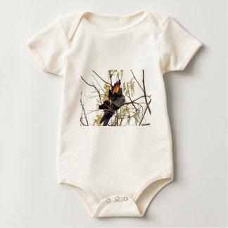 BLACK COCKATOO QUEENSLAND AUSTRALIA BABY BODYSUIT