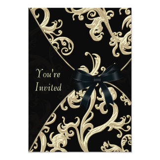 Black Cream Cocktail Party Card
