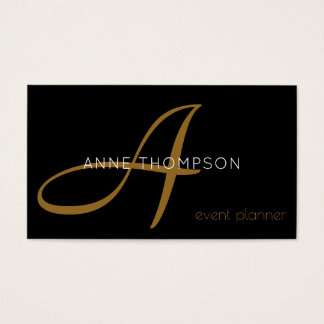 black custom profession (event planner) stylish business card