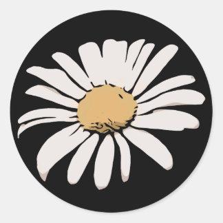 Black Daisy Floral Sticker