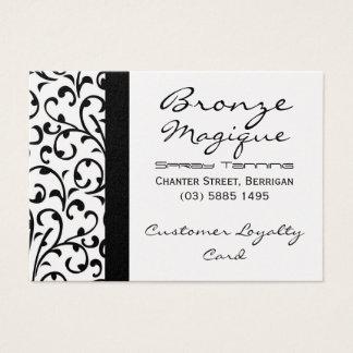 Black Damask Business Customer Loyalty Card