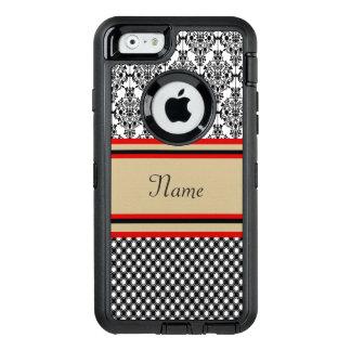 Black Damask Monogram OtterBox iPhone 6/6s Case