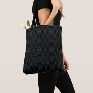Black Damask Pattern Tote Bag