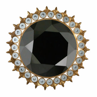 Black Diamond Pin Photo Sculpture Badge