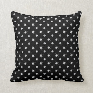 Black diamonds cushion