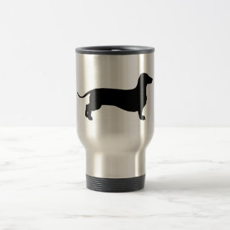 Black Doxie Travel Mug