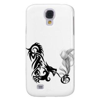 Black Dragon Breath Monogram G iPhone3G Cover Samsung Galaxy S4 Case