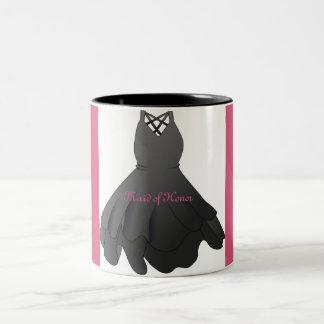 Black Dress Wedding Party Gift Maid of Honor Mug