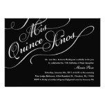 Black Elegant Quinceanera Invitations