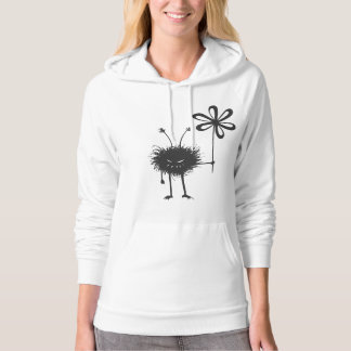 Black Evil Flower Bug Womens Hooded Hoodie