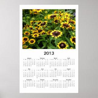 Black Eyed Susans Floral 2013 Calendar Poster