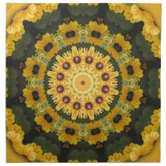 Black-eyed Susans, Floral mandala-style Napkin