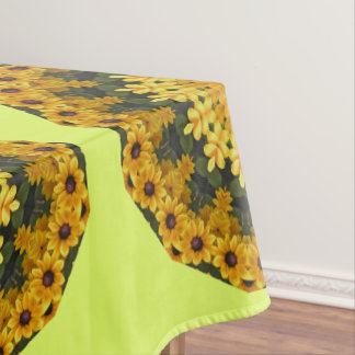Black-eyed Susans Nature, Flower-Mandala Tablecloth