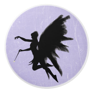 Black Fairy God Mother Purple or Lavender Knob