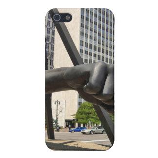 Black Fist Detroit iPhone 5 Cases
