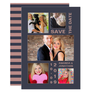 Black-Flame and Brandy Snaps Wedding Save the Date Card