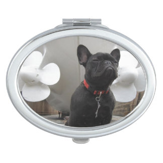 Black French Bulldog Compact Mirror
