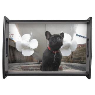 Black French Bulldog Serving Platters