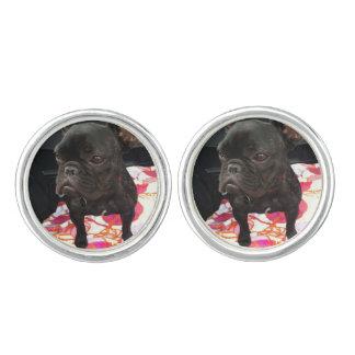 Black French Bulldog Cufflinks