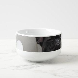 Black French Bulldog Soup Mug