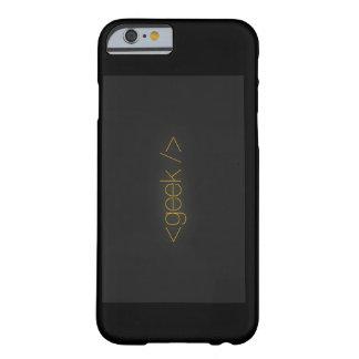 Black geek iphone case