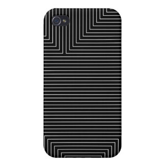 black geometry white lines minimal abstract case for the iPhone 4
