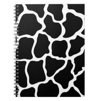 Black Giraffe Print Notebook