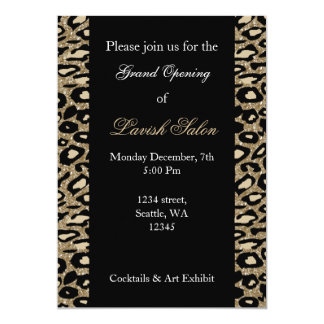 Black Gold Chic Corporate party Invitation