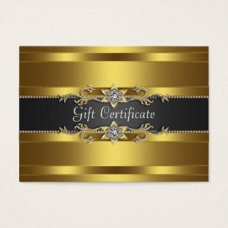 Black Gold Diamond Gold Business Gift Certficate