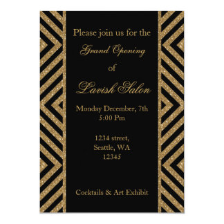 black gold Elegant Corporate party Invitation