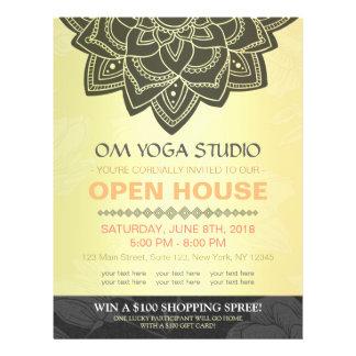 Black Gold Mandala YOGA Massage Therapy Open House Flyer