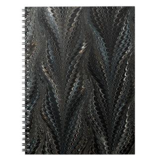 Black Gold Spiral Business Notebook