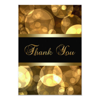 Black Gold Thank You Cards 9 Cm X 13 Cm Invitation Card