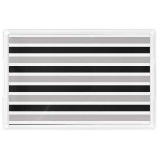 Black & Gray Acrylic Tray