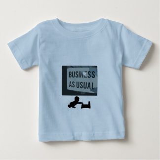 Black & Gray Business As Usual Sign Baby T-Shirt