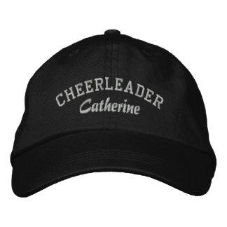 Black & Gray Custom Cheerleader's Hat Embroidered Hat