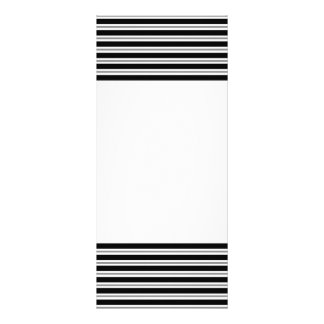 Black Gray Horizontal Stripes Rack Card