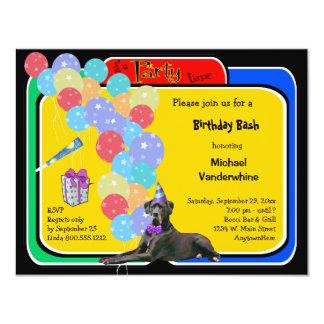 Black Great Dane Birthday Barker Card