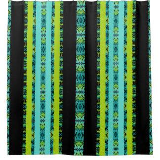 black green shower curtain