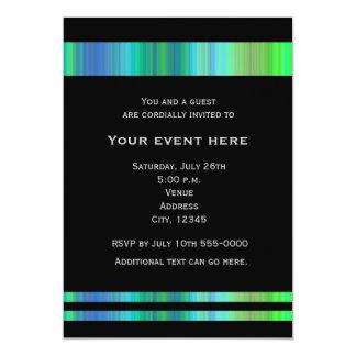 Black Greens Blues Elegant Party Event Invitation