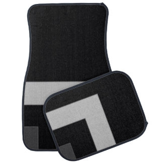 Black/Grey Color Corner (MB) Car Mat