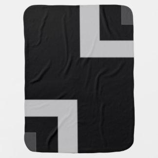 Black/Grey Color Corner (MB) Swaddle Blankets