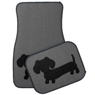 Black & Grey Dachshund Car Truck Floor Mats Floor Mat