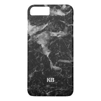 Black & Grey Marble Texture iPhone 7 Plus Case