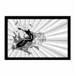 Black & Grey Surfer Acrylic Cut Out
