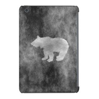 Black Grunge Bear iPad Mini Covers