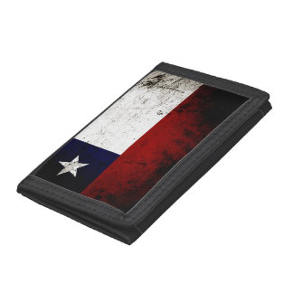 Black Grunge Chile Flag Trifold Wallet