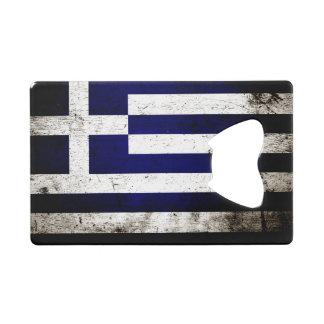 Black Grunge Greece Flag